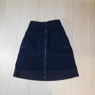 ジーユー(GU)のAラインデニムスカート GU(ミニスカート)