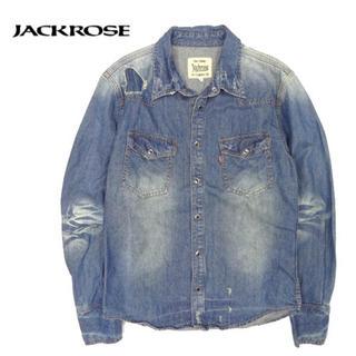 ジャックローズ(JACKROSE)のジャックローズ ダメージ リペア加工 デニムシャツ(Gジャン/デニムジャケット)