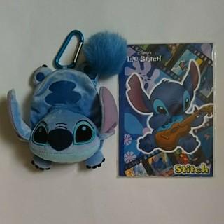 ディズニー(Disney)のスティッチ ポーチ コインケース (& ノート)(キャラクターグッズ)