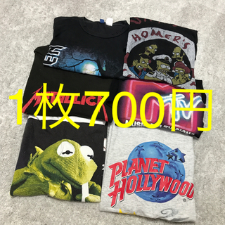ディズニー(Disney)の古着屋 used Tシャツセット ディズニー バンドTシャツ MTV(Tシャツ/カットソー(半袖/袖なし))