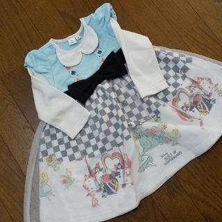 ディズニー(Disney)の冬服大処分 今月末までの出品 アリスのワンピース ハロウィン 仮装 1〜2歳(ワンピース)