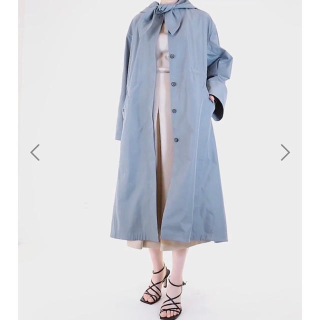 LE CIEL BLEU(ルシェルブルー)の Scarf Parka  gray レディースのジャケット/アウター(ロングコート)の商品写真