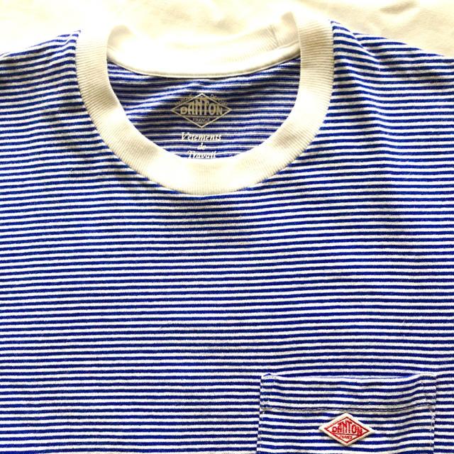 DANTON(ダントン)のダントン✴︎ボーダー✴︎ブルー×ホワイト✴︎36 レディースのトップス(Tシャツ(半袖/袖なし))の商品写真