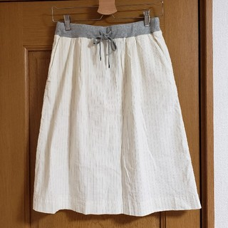 スタディオクリップ(STUDIO CLIP)のstudio clip 麻 スカート スタジオクリップ(ひざ丈スカート)