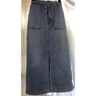 ケービーエフプラス(KBF+)のKBF+デニムタイトスカート(ロングスカート)