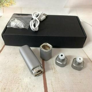 イヤホン Bluetooth   シルバー(ヘッドフォン/イヤフォン)