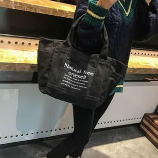 SALE♡トートバッグ 2way レディース ハンドバッグ キャンバス 黒(トートバッグ)