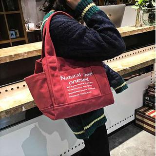 ✰最安値✰ red♪ 赤 ロゴトート キャンバス 大容量(トートバッグ)