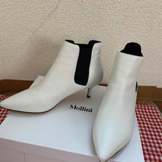 SCOT CLUB - 新品スコットクラブ購入Mollini本革美脚白ブーツ定価21600