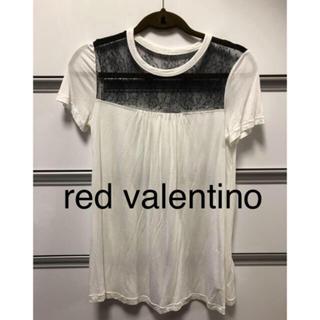 レッドヴァレンティノ(RED VALENTINO)の美品 red valentino 半袖 ホワイトTシャツ(Tシャツ(半袖/袖なし))