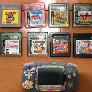 ゲームボーイアドバンス(ゲームボーイアドバンス)のジャンク品 ゲームボーイアドバンス本体 ソフト8本(携帯用ゲーム機本体)