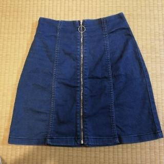 ジーユー(GU)のGU デニムスカート S(ミニスカート)
