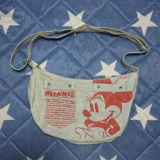 ディズニー(Disney)のディズニーミニーマウス デニムショルダーバッグ(ショルダーバッグ)