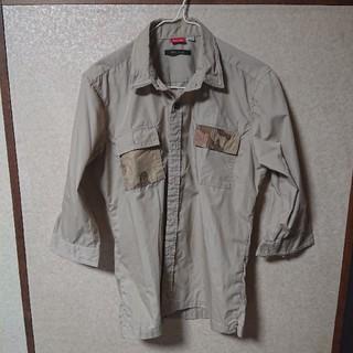 チャオパニック(Ciaopanic)のミリタリー系シャツアースカラー  サイズM(Tシャツ/カットソー(七分/長袖))