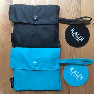 KALDI - カルディ エコバッグ ブルー・ブラック ☆
