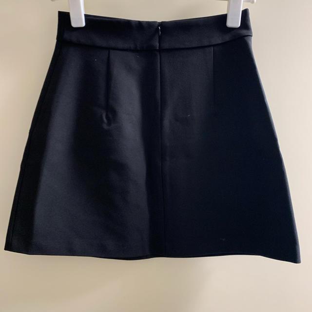 ZARA(ザラ)のZARA スタッズ付き台形スカート usa xs レディースのスカート(ミニスカート)の商品写真