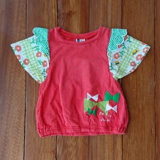 プチジャム(Petit jam)のプチジャム☆半袖カットソー☆リボン☆スラップ☆赤☆100cm(Tシャツ/カットソー)