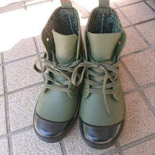 WORKMAN】レインシューズ  カーキ色・23.5cm(レインブーツ/長靴)