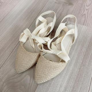 リゾイ(REZOY)のリゾイ RZOY サンダル シューズ 夏 靴 ジュートソー ベージュ  リボン(サンダル)