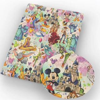 ディズニー(Disney)の50cm✖️140cm❤️ディズニーランドの生地ハギレ❤️即送(生地/糸)