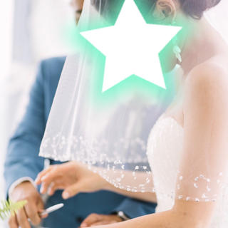 ベール ミディアム ショート 結婚式 ウェディング 挙式 スパンコール ビジュー(ヘッドドレス/ドレス)