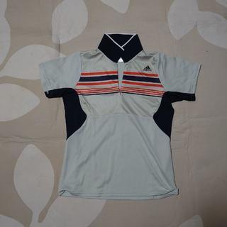 アディダス(adidas)の■アディダス レディース L トップス 半袖シャツ ハーフジップシャツ(ポロシャツ)