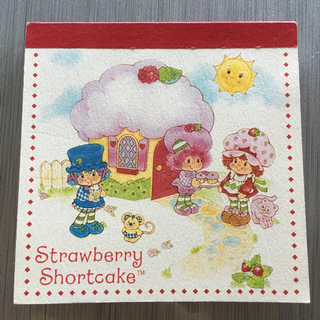 Strawberry Shortcake メモ帳(ノート/メモ帳/ふせん)