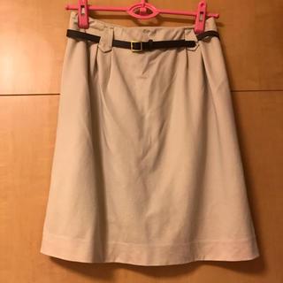ロペ(ROPE)のROPEベルト付きスカート(ひざ丈スカート)