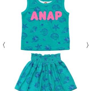 アナップキッズ(ANAP Kids)のANAPkids新品シェル柄セットアップエメラルドグリーン(Tシャツ/カットソー)