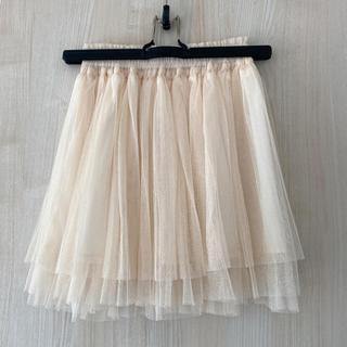 チュールスカート (ひざ丈スカート)
