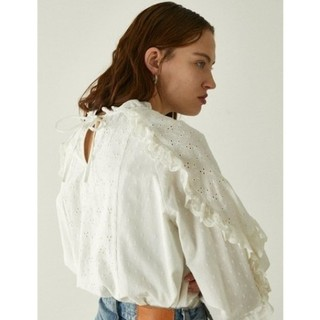 moussy - EMBROIDERED LACE ブラウス