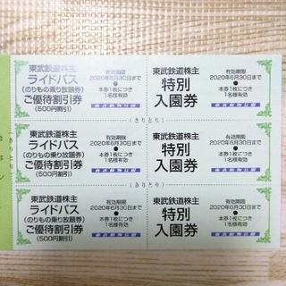 東武動物公園 無料入館券 3名様(遊園地/テーマパーク)
