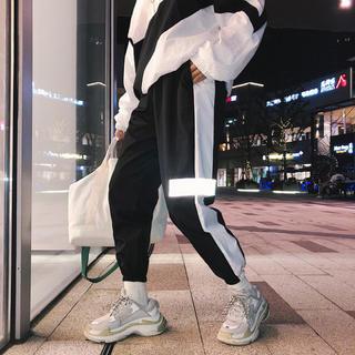 プーマ(PUMA)のラインパンツ ジャージ スウェット トラックパンツ  男女兼用 ✳︎Mサイズ 黒(ワークパンツ/カーゴパンツ)