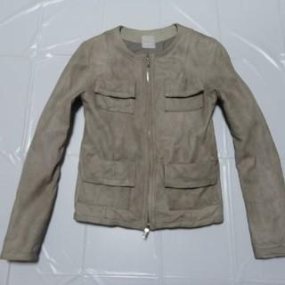 希少 高級 涼色◆WJK 女性レディース 羊革レザージャケット灰L◆DIESEL