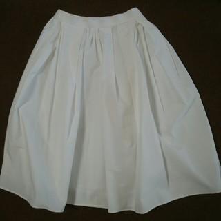 エマジェイム(EMMAJAMES)のEMMAJAMES スカート 白 Mサイズ(ひざ丈スカート)
