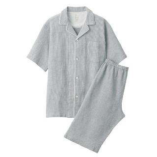 ムジルシリョウヒン(MUJI (無印良品))の【浅葱様専用】脇に縫い目のない ワッフル織り半袖パジャマ(その他)