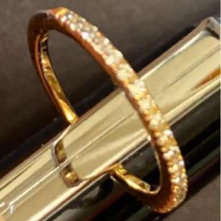 ココシュニック(COCOSHNIK)のココシュニック K18 ダイヤモンド ピンキーリング 0号(リング(指輪))