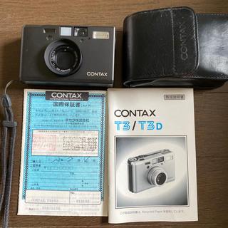 キョウセラ(京セラ)のCONTAX T3 チタンブラック(フィルムカメラ)