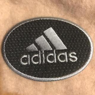 アディダス(adidas)のアイロンワッペン adidas アディダス ワッペン グレー  刺繍ワッペン(各種パーツ)