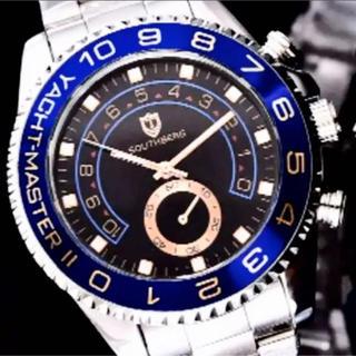新品 southberg シルバーバンド ブラックフェイス オマージュウォッチ(腕時計(アナログ))