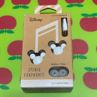 ディズニー(Disney)の●値下げ●ミッキー イヤホン ホワイト Disney(ヘッドフォン/イヤフォン)
