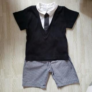 ニシマツヤ(西松屋)の80サイズ 男の子 フォーマル 半袖 夏用 セットアップ(セレモニードレス/スーツ)
