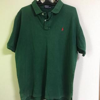 POLO RALPH LAUREN - 古着 USA製 OLD ラルフローレン グリーン ポロシャツ