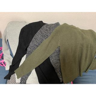 ニット セーター メンズ 長袖 4点セット(ニット/セーター)