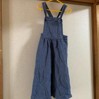 ジーユー(GU)のGU キッズ 110cm  デニム風  オールインワン サロペット (パンツ/スパッツ)