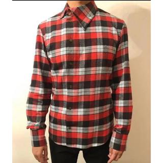 Vivienne Westwood - Vivienne Westwood MAN 変型襟 赤チェックシャツ