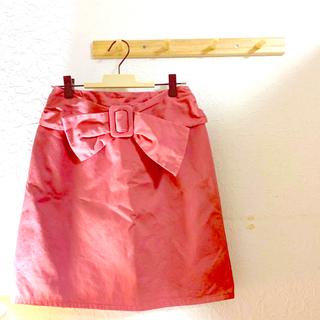 マジェスティックレゴン(MAJESTIC LEGON)の引越し前セールしてます🐶ウエストリボンベルト台形スカート(ひざ丈スカート)