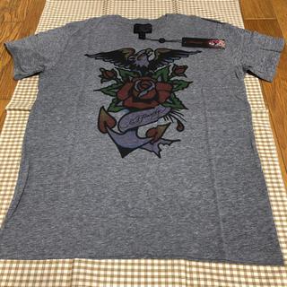 エドハーディー(Ed Hardy)のエド ハーディー Ed Hardy Tシャツ USA製 グレー Lサイズ 未使用(Tシャツ/カットソー(半袖/袖なし))