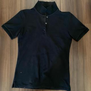 ユニクロ(UNIQLO)のポロシャツ レディースM ユニクロ UNIQLO 黒(ポロシャツ)