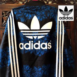 アディダス(adidas)のアディダス 花柄 ジャージ ジャケット ブルゾン SML Tシャツ 青花 SML(ブルゾン)